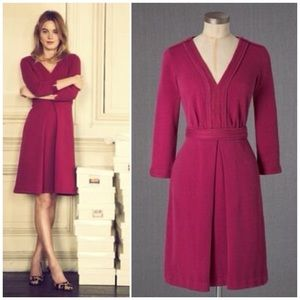 BODEN Mercer Dress 3/4 Sleeve A-Line Flare Knit 8